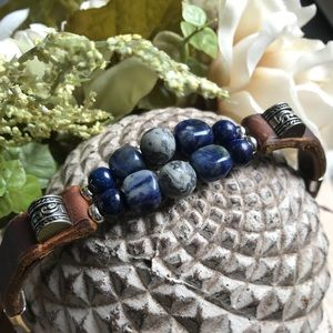 Jewelry - Hand Crafted Leather Bracelet
